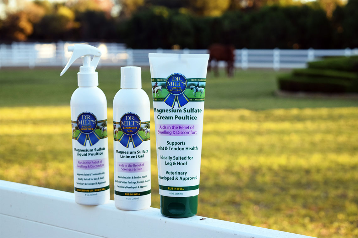 Dr. Milt's 8 oz. Products on Fence